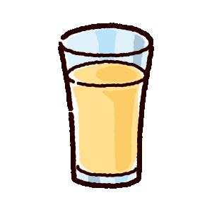 ジュースのイラスト(アップル・グレープフルーツ)