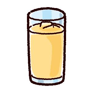 ジュースのイラスト(アップル・グレープフルーツ)(4カット)
