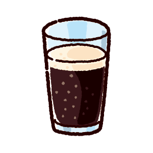 ジュースのイラスト(コーラ)