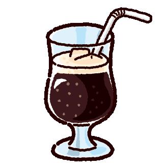ジュースのイラスト(コーラ)(4カット)