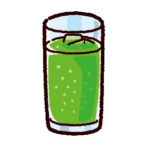 ジュースのイラスト(メロンソーダ)(4カット)