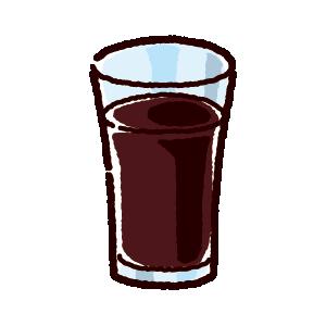 ジュースのイラスト(アイスコーヒー)(4カット)