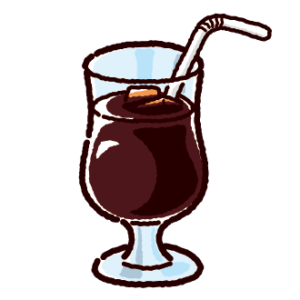 ジュースのイラスト(アイスコーヒー)