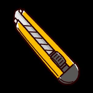 カッターナイフのイラスト