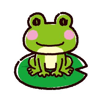 カエルのイラスト(2カット)(2カラー)