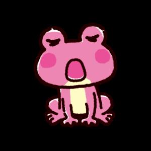 歌うカエルのイラスト