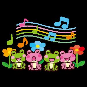カエルの合唱のイラスト