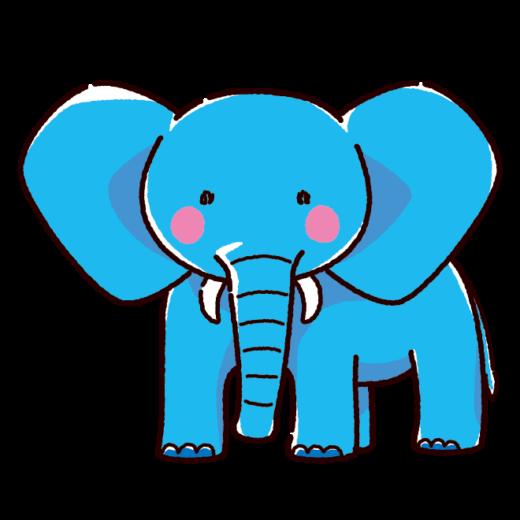 ゾウのイラスト(2カラー)