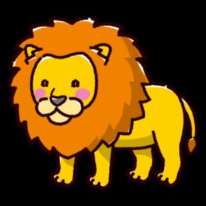 ライオンのイラスト(オス)