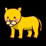 ライオンのイラスト(メス)