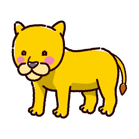 ライオンのイラスト(メス)(2カラー)