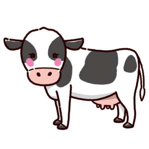 牛のイラスト(雌牛・乳牛)