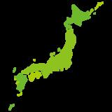 日本地図のイラスト