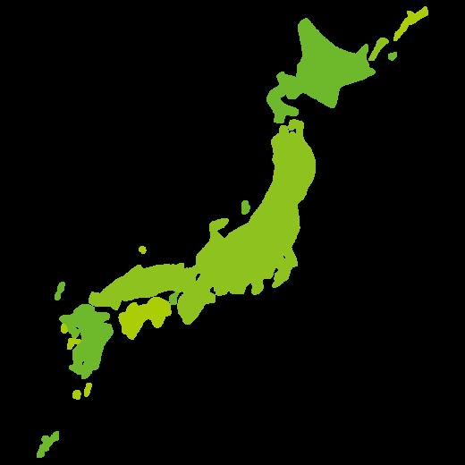 日本地図のイラスト(2カット)
