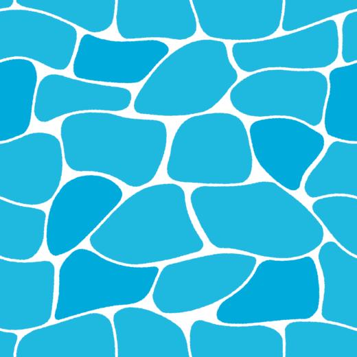水面のイラスト(エンドレス)(2カット・2カラー)