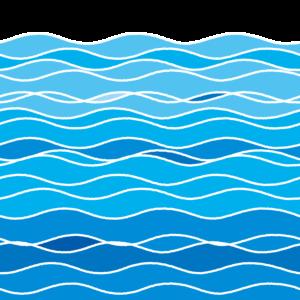 さざ波のイラスト(海面)