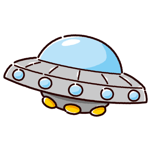 UFOのイラスト(宇宙船)(2カット)