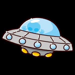 UFOのイラスト(宇宙船)