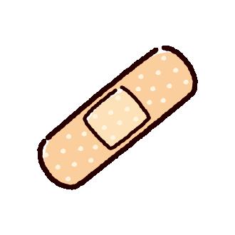 絆創膏のイラスト(2カット)