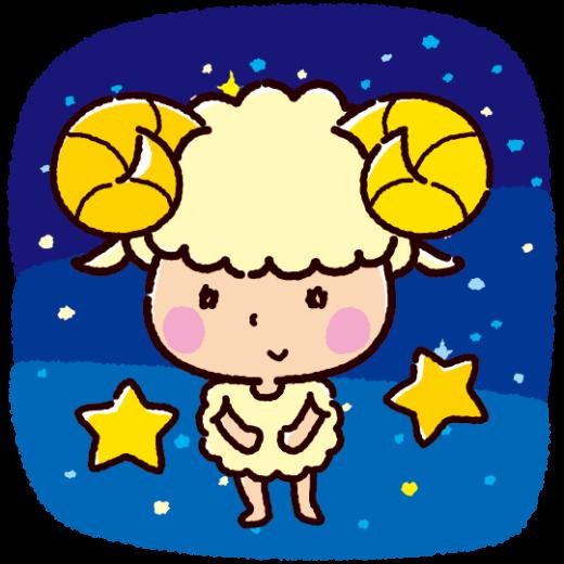 牡羊座のキャラクターイラスト(2カット)