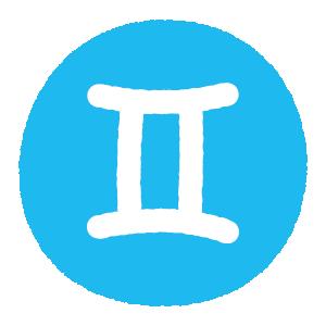 双子座のシンボルマークのイラスト(2カット)