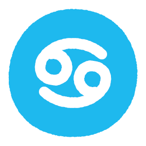 蟹座のシンボルマークのイラスト(2カット)