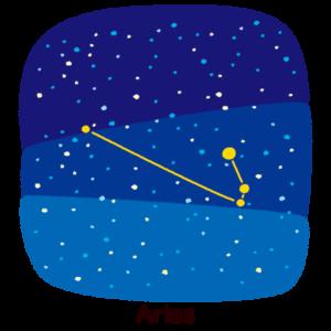 星座のイラスト(牡羊座)