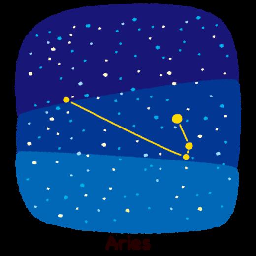 星座のイラスト(牡羊座)(2カット)