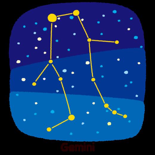 星座のイラスト(双子座)(2カット)
