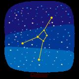 星座のイラスト(蟹座)