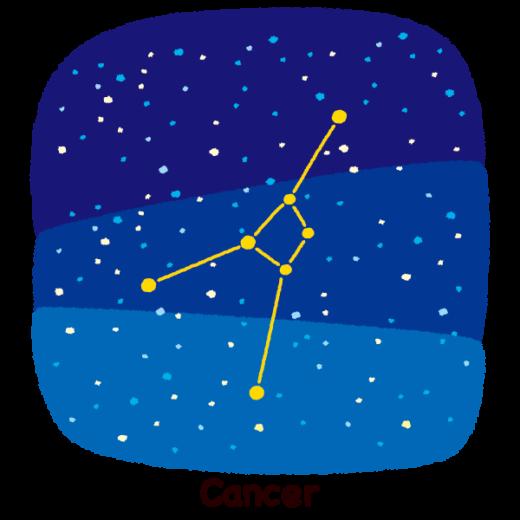 星座のイラスト(蟹座)(2カット)
