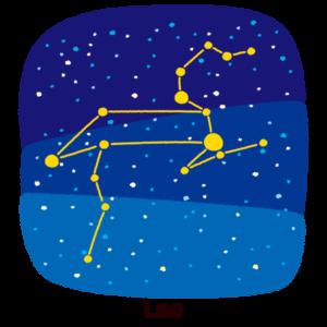 星座のイラスト(獅子座)