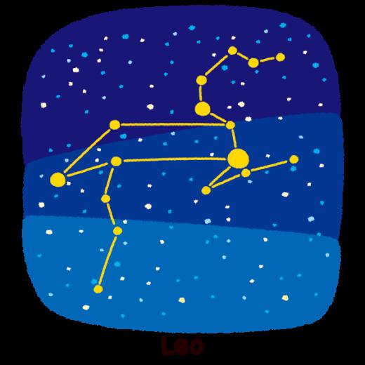 星座のイラスト(獅子座)(2カット)