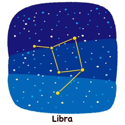 星座のイラスト(天秤座)(2カット)
