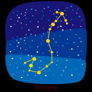 星座のイラスト(蠍座)