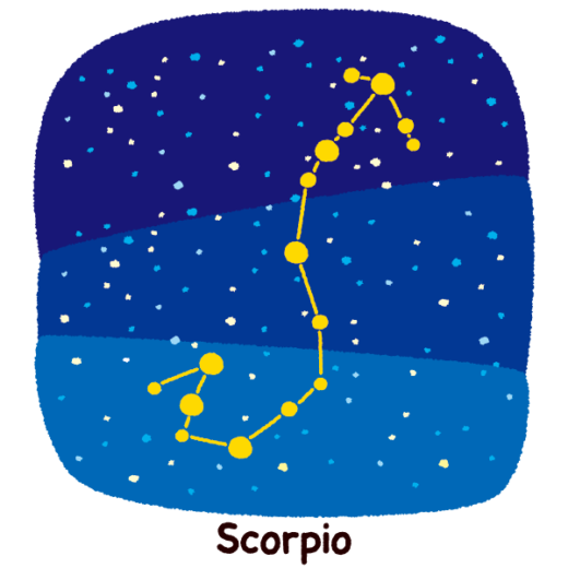 星座のイラスト(蠍座)(2カット)