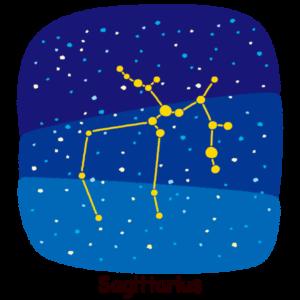 星座のイラスト(射手座)