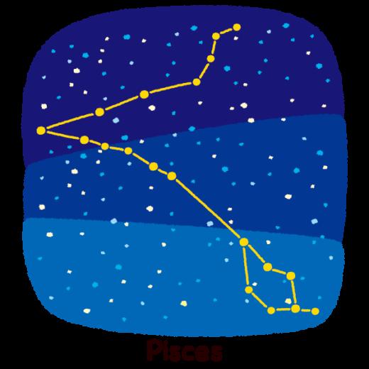 星座のイラスト(魚座)(2カット)