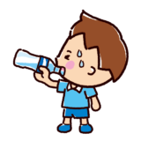 水分補給のイラスト(男の子)