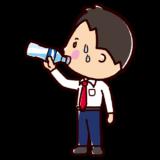 水分補給のイラスト(サラリーマン)