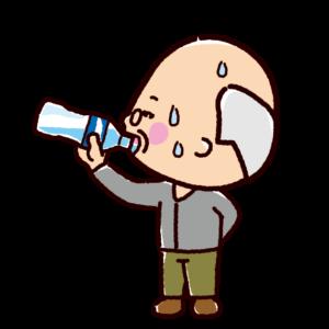 水分補給のイラスト(おじいさん)