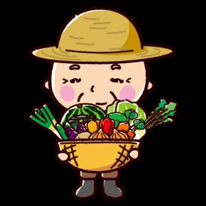 農家のイラスト(おじさん)
