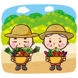 野菜農家のイラスト