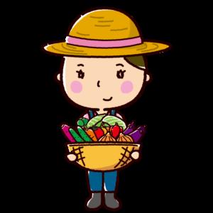 農家のイラスト(女性)
