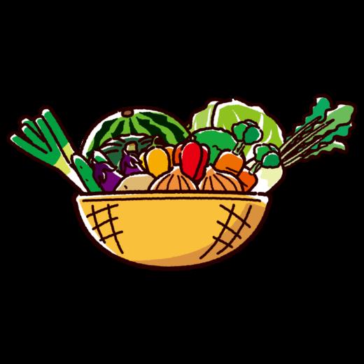 野菜のイラスト(盛合せ)(2カット)