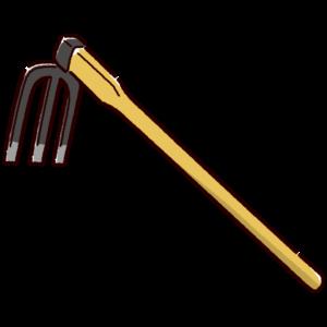 農具のイラスト(備中鍬)