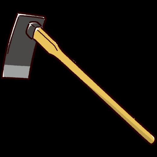 農具のイラスト(平鍬)