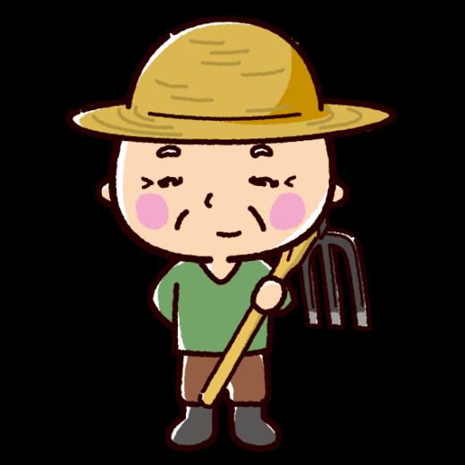 農家のイラスト(農業・おじさん)