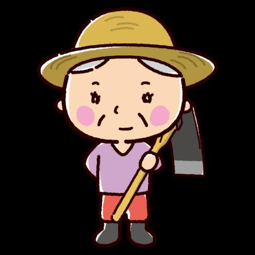農家のイラスト(農業・おばさん)