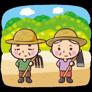 農家のイラスト(農業・おじさん・おばさん)